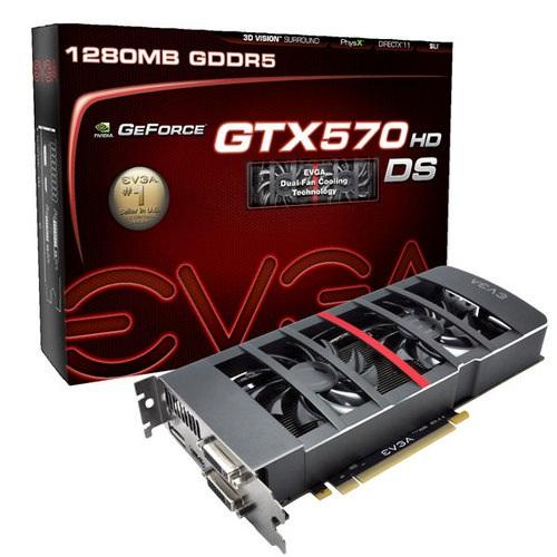 GPU GTX570DS 1.2GB DDR5 PCIE 012-P3-1577-KR - EVGA