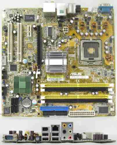 Placa Mãe P/ Intel Socket 775P Asus P5ld2-fm/s Ddr2, P/ celeron / P4