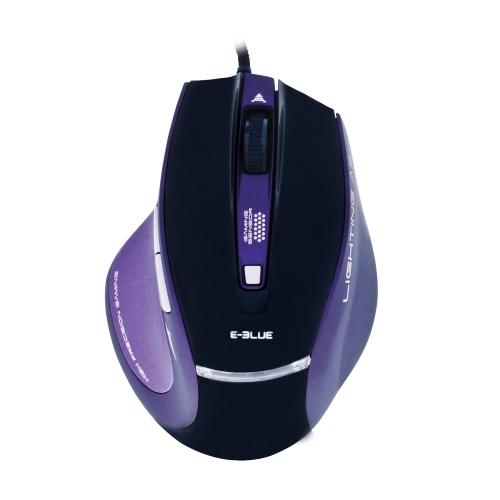 Mouse Óptico Lighting Ash Preto E-BLUE Roxo