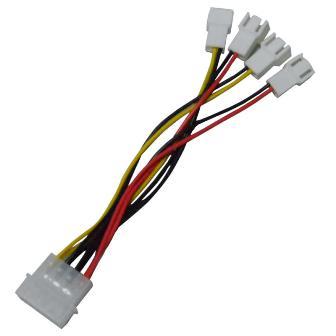 Adaptador de fans 4 entradas 3p p/ 4 pinos conector fonte