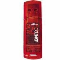 Pen drive EMTEC C400 - 4GB Vermelho