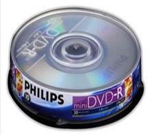 Mini DVD-R PHILIPS 1.4GB 4x Tubo com 10 - Com Logo