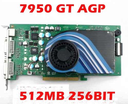 PLACA DE VÍDEO GEFORCE 7950GT AGP 512MB 256BIT