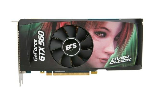 Placa de Vídeo GeForce GTX 560 Black Series 1Gb Ddr5 ECS