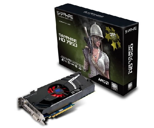 GPU ATI RadeON HD7950 3GB GDDR5 384bits - AMD HD3D - Mini-DisplayPort - HDMI 1.4 - PCI-E 3.0 - Sapphire