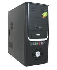 Gabinete ATX Duex DX 938 Preto e Prata (Sem Fonte)