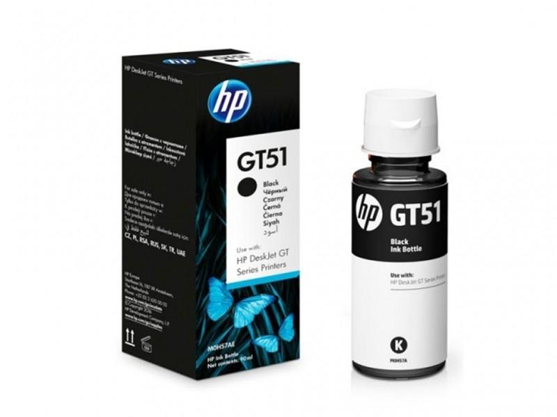 Garrafa de Tinta HP GT51 GT53 90ML Preta p/ HP GT 5822 MOH57AL