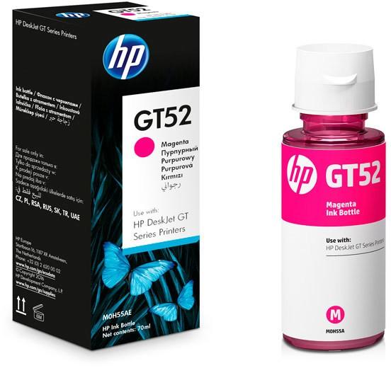 Garrafa de Tinta HP GT52 70ML Magenta p/ HP GT 5822 MOH55AL
