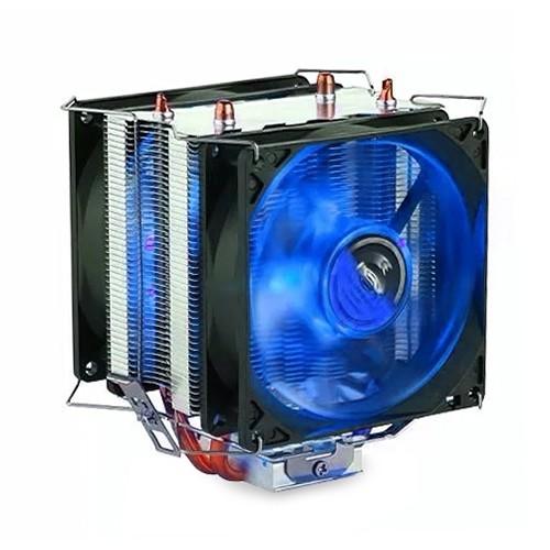 Cooler para Processador Dex AMD Intel TDP 130W Dx-9100 2 Fans Led Azul
