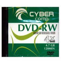 DVD-RW Cyber Comp 4.7GB 4x - Kit com 5 Unidades
