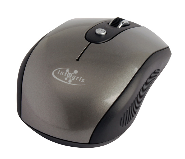 Mouse Retrátil USB Cinza Integris 387OU