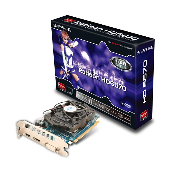 Placa de Video ATI Radeon 6670 SAPPHIRE 1GB DDR5