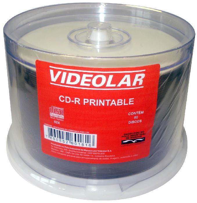 CD-R Videolar Printable Pino c/ 50