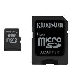 CARTÃO DE MEMÓRIA MICRO SD 2GB C/ ADAPTADOR KINGSTON