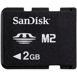 CARTÃO DE MEMÓRIA SANDISK 2GB M2