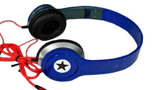 Fone De Ouvido Dobrável P/ Pc Celular Conector P2 Azul