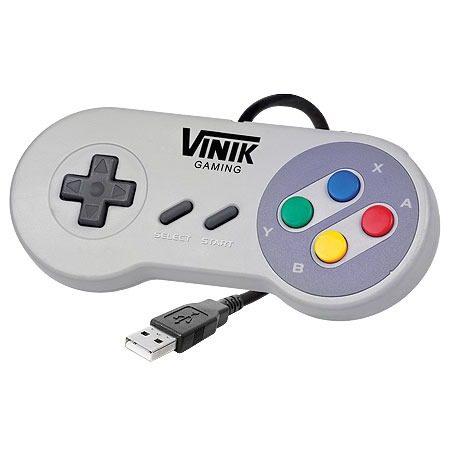 CONTROLE PARA PC ESTILO SUPER NINTENDO MODELO SNES USB - VINIK