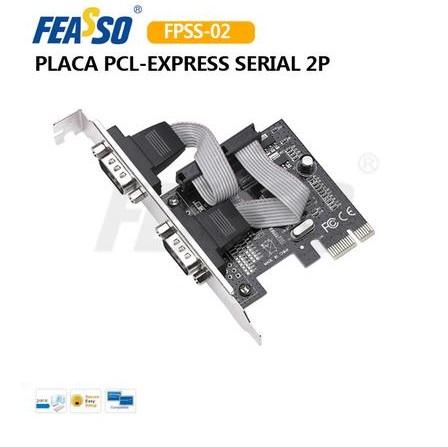 Placa PCI-Express FPSS-02 JPSS-02 2 Portas Seriais RS232 C/ Perfil Baixo