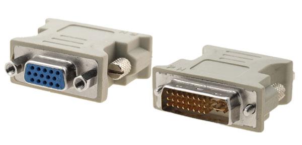 Aadaptador Dvi DVI-I X VGA p/ placa de vídeo