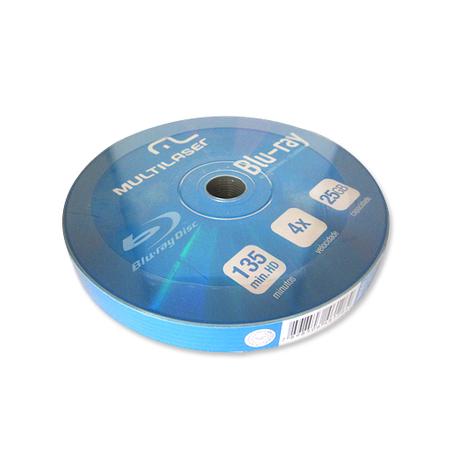Mídia Blu-ray Multilaser c/ 10 unidades 25GB  DV057