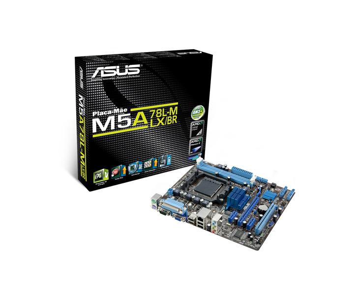 Placa Mãe AMD ASUS M5A78L-M LX BR AM3,AM3+