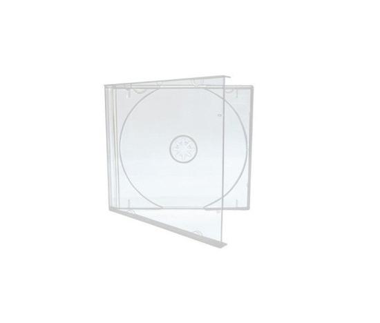 Estojo Para CD Acrílico Transparente - Caixa Com 10 Unidades