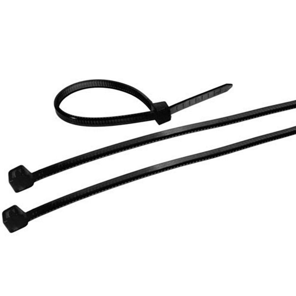 Abraçadeira Nylon 2,5 X 100mm C/100 Peças Preta