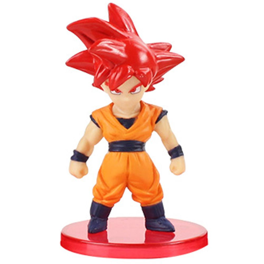 Action Figure Dragon Ball Goku God 7cm