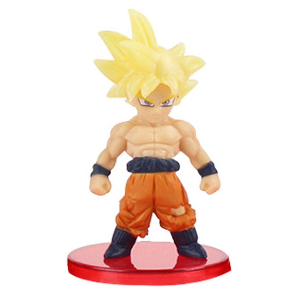 Action Figure Dragon Ball Goku Super Sayajin Batalha 7cm