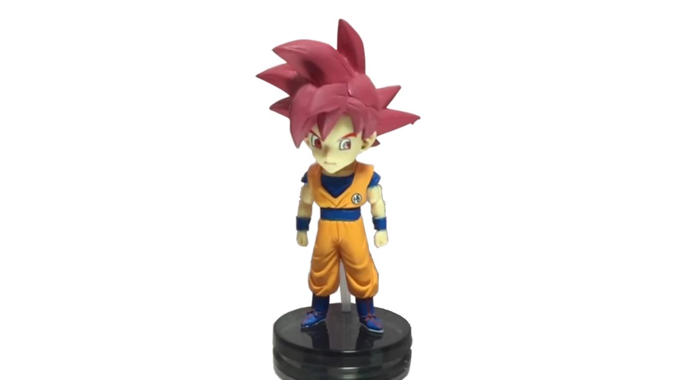 Action Figure Dragon Ball Super Goku SS God 8CM