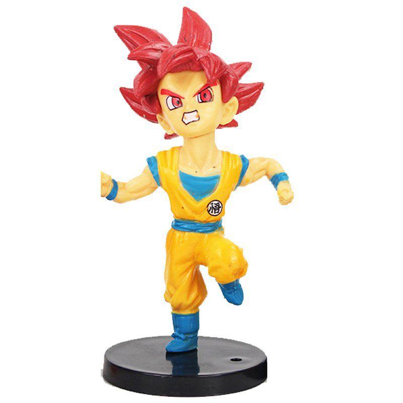 Action Figure Dragon Ball Super Goku SSJ God 9CM