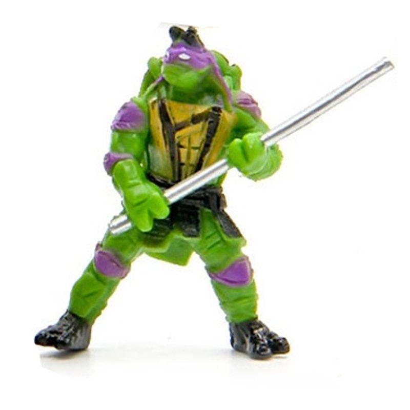 Mini Action Figure Tartaruga Ninja Donatello 5cm