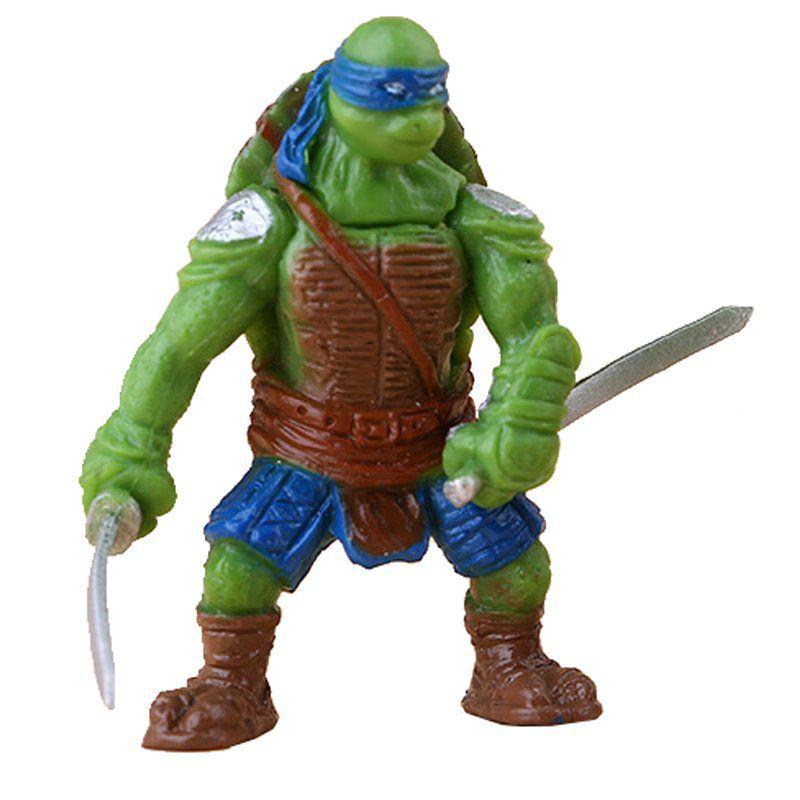 Mini Action Figure Tartaruga Ninja Leonardo 5cm