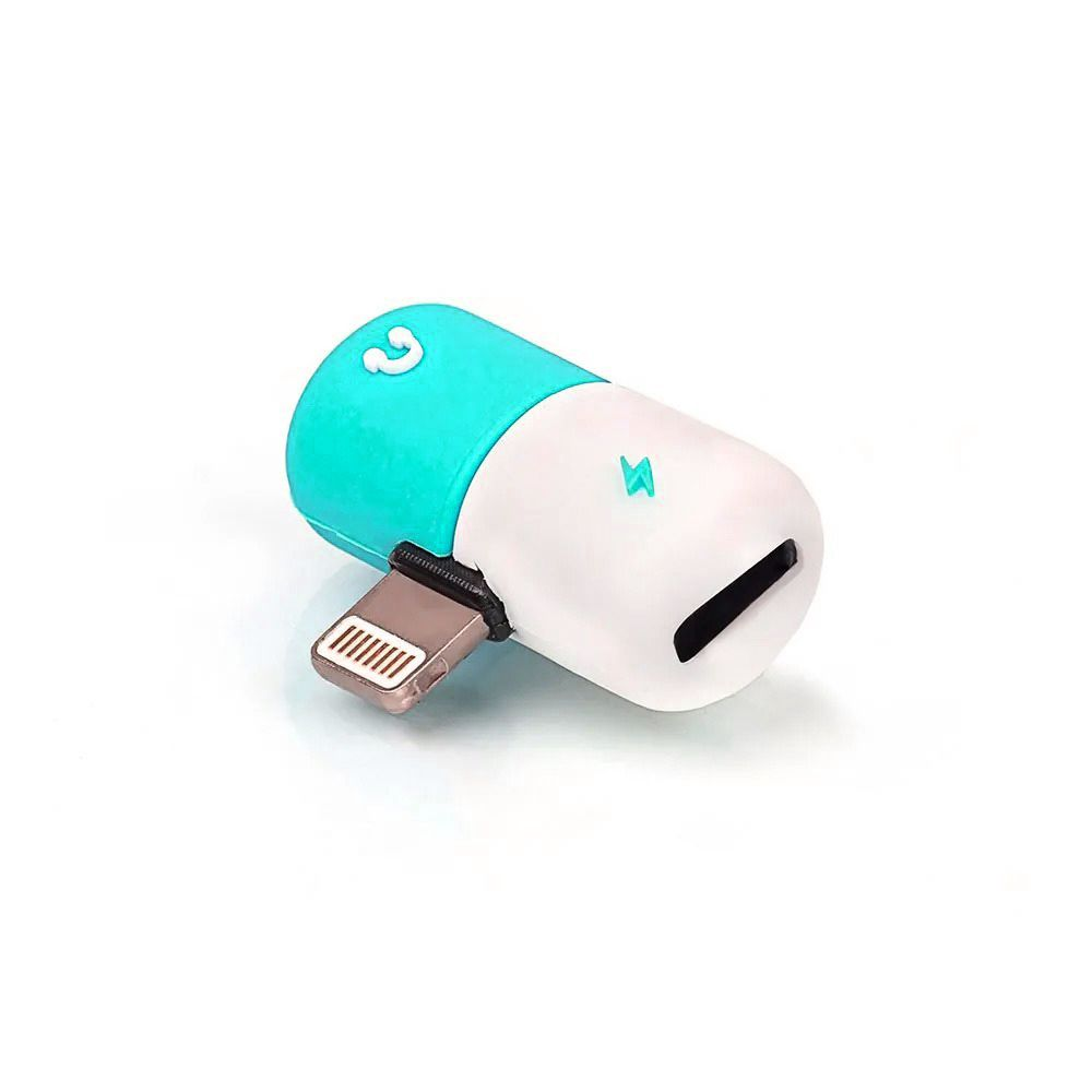 Adaptador Lightning Splitter Carregador Fone iOS iPhone 7
