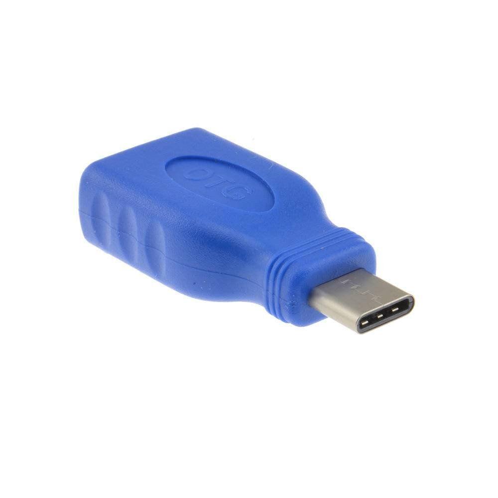 Adaptador OTG Type-C tipo c Mais Mania USB C 3.1 Macho p USB A 3.0 Fêmea