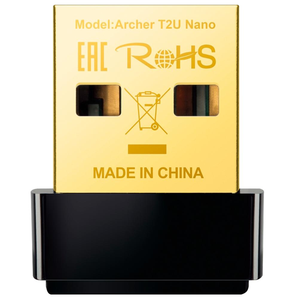 Adaptador Wireless TP-Link USB AC600 Archer T2U Nano 5GHZ