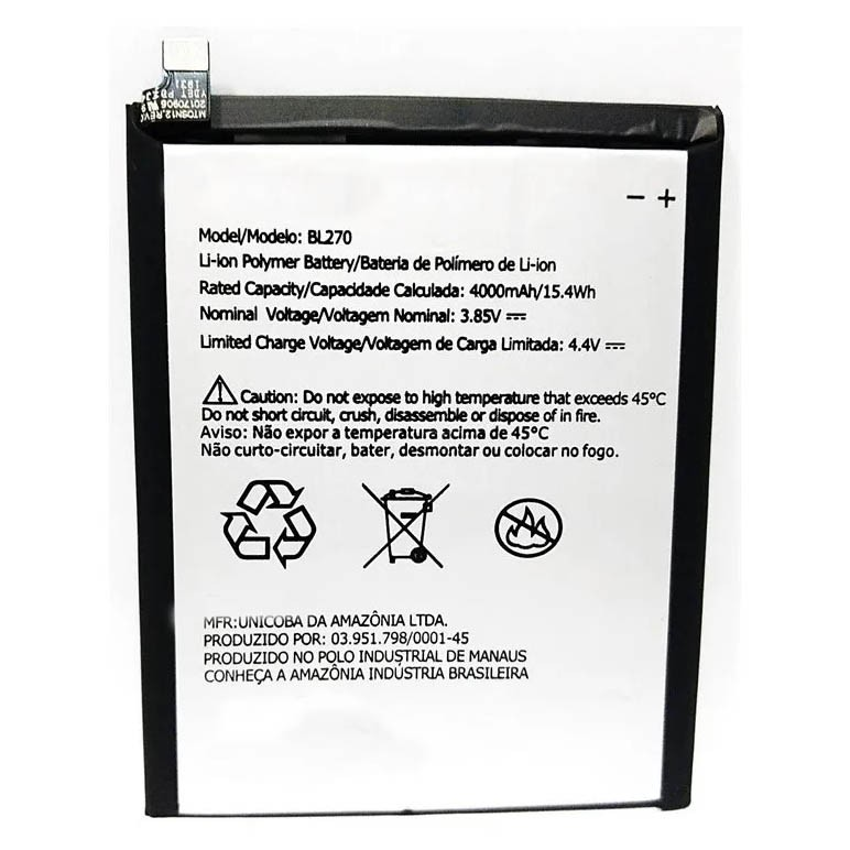 Bateria de Reposição sb18c29489 BL270 Compatível G6 Play E5 K6 Plus - BL270