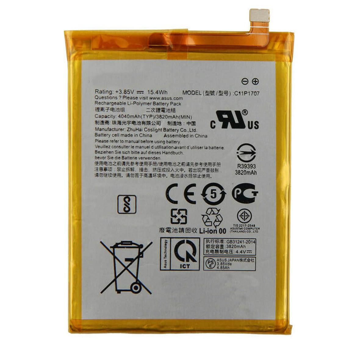 Bateria de Reposição c11p1707 Compatível Zenfone Max M1 ZB555KL X00PD - c11p1707