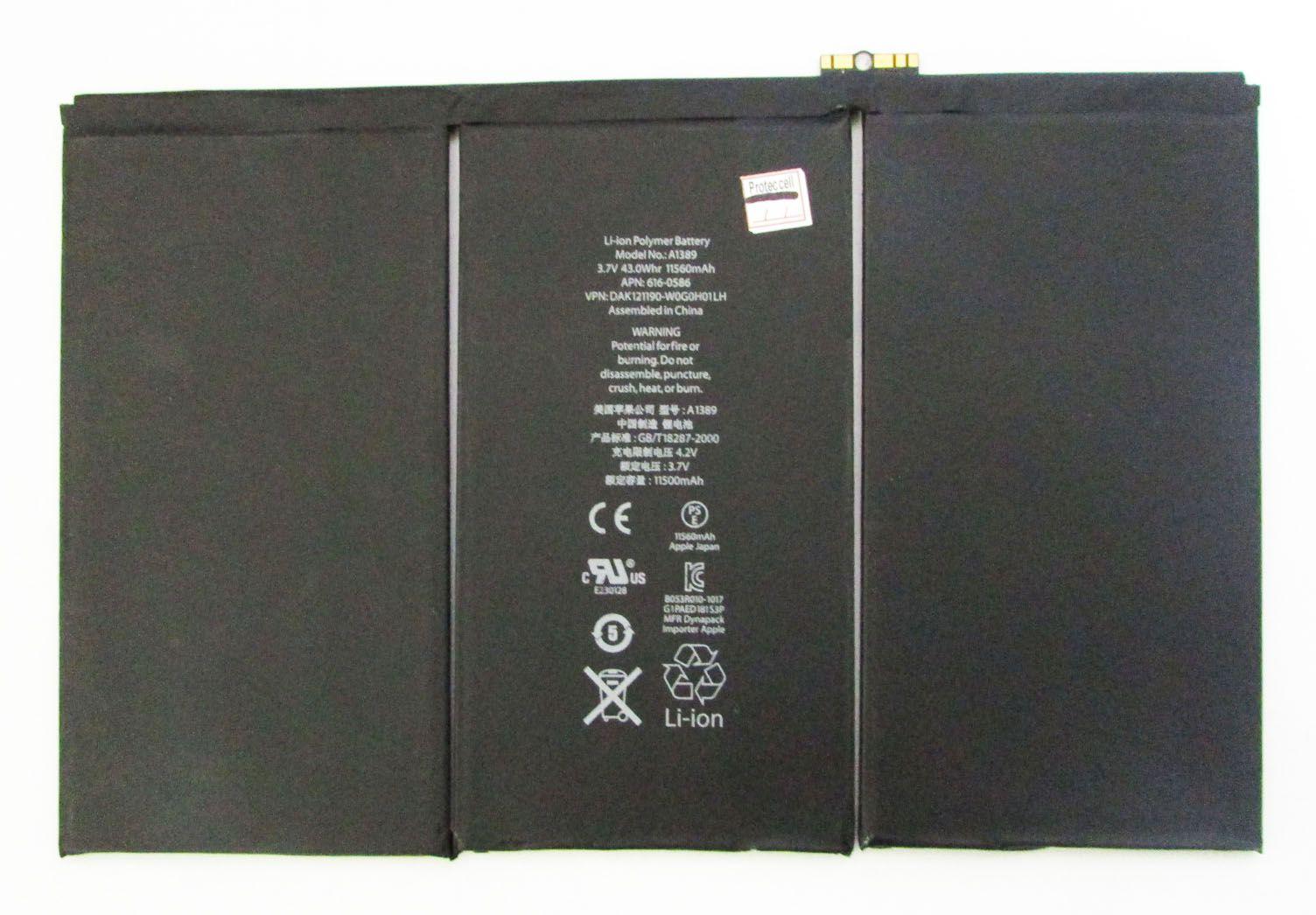 Bateria iPad 3 A1416 A1430 A1403 A1389 11560mah (semi novo)