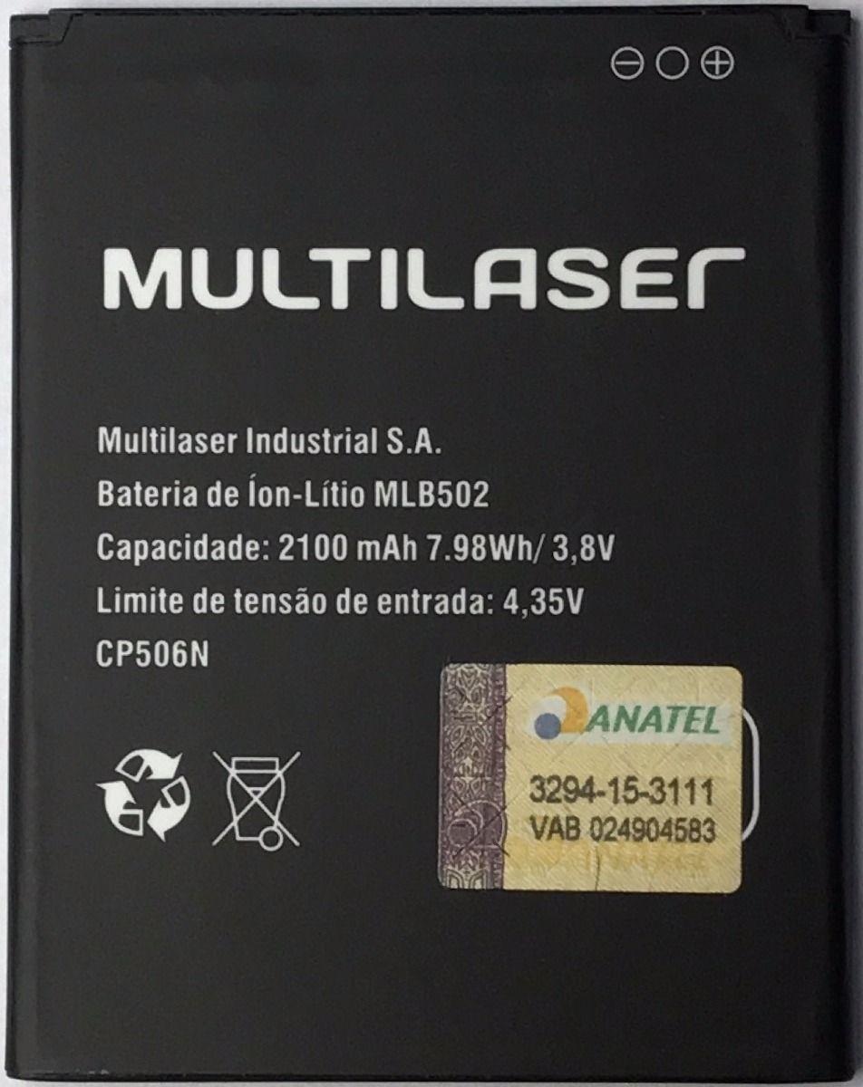 Bateria Multilaser Ms50/sr Ms50 Sr Mlb502 CP506N 2100mah P9001 P9002 P9015 P9030 P9031 P9507 PR059 Original