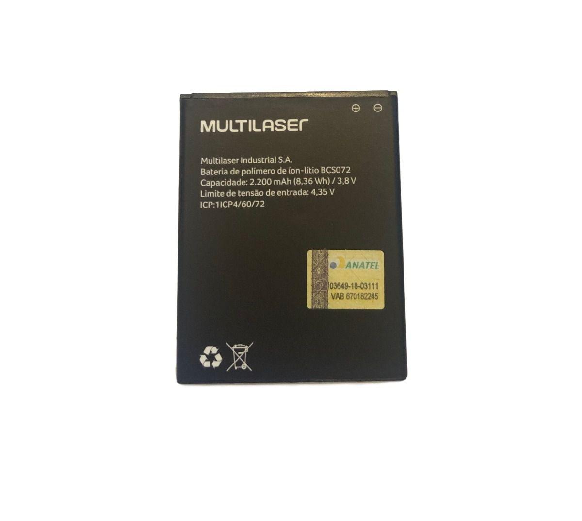 Bateria Multilaser Ms50g Bcs072 2200mah P9072 P9073 P9078Nb730 Pr377