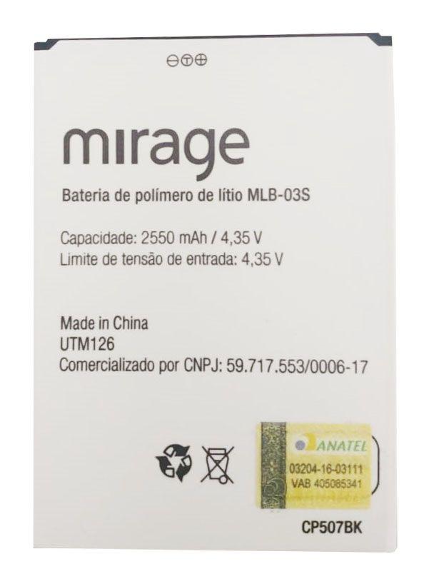Bateria Multilaser Ms55 Mirage 71S Mlb-03s 2550mah Original