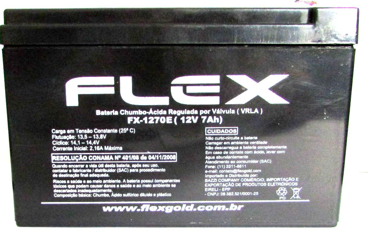 Bateria NoBreak Flex FX-1270E (12V 7Ah)