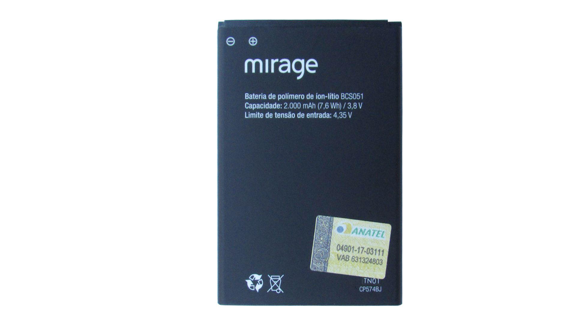 Bateria P/ Celular Mirage 62s 1005/06 Pr211 CP574BJ Bcs051
