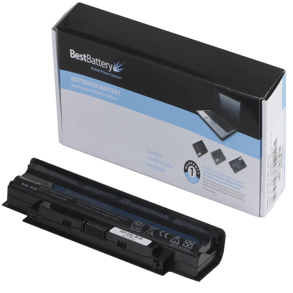 Bateria p/ Notebook Dell Inspiron J1KND 13R 14R 15R 17R DW04 11.1V 4400MAH Best Battery BB11-DE080