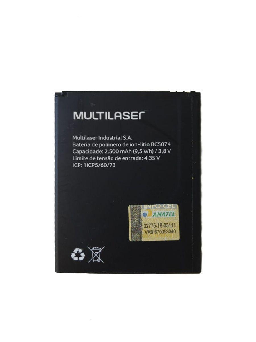 Bateria Smartphone Multilaser MS50X Bcs074 2500 Mah PR30007
