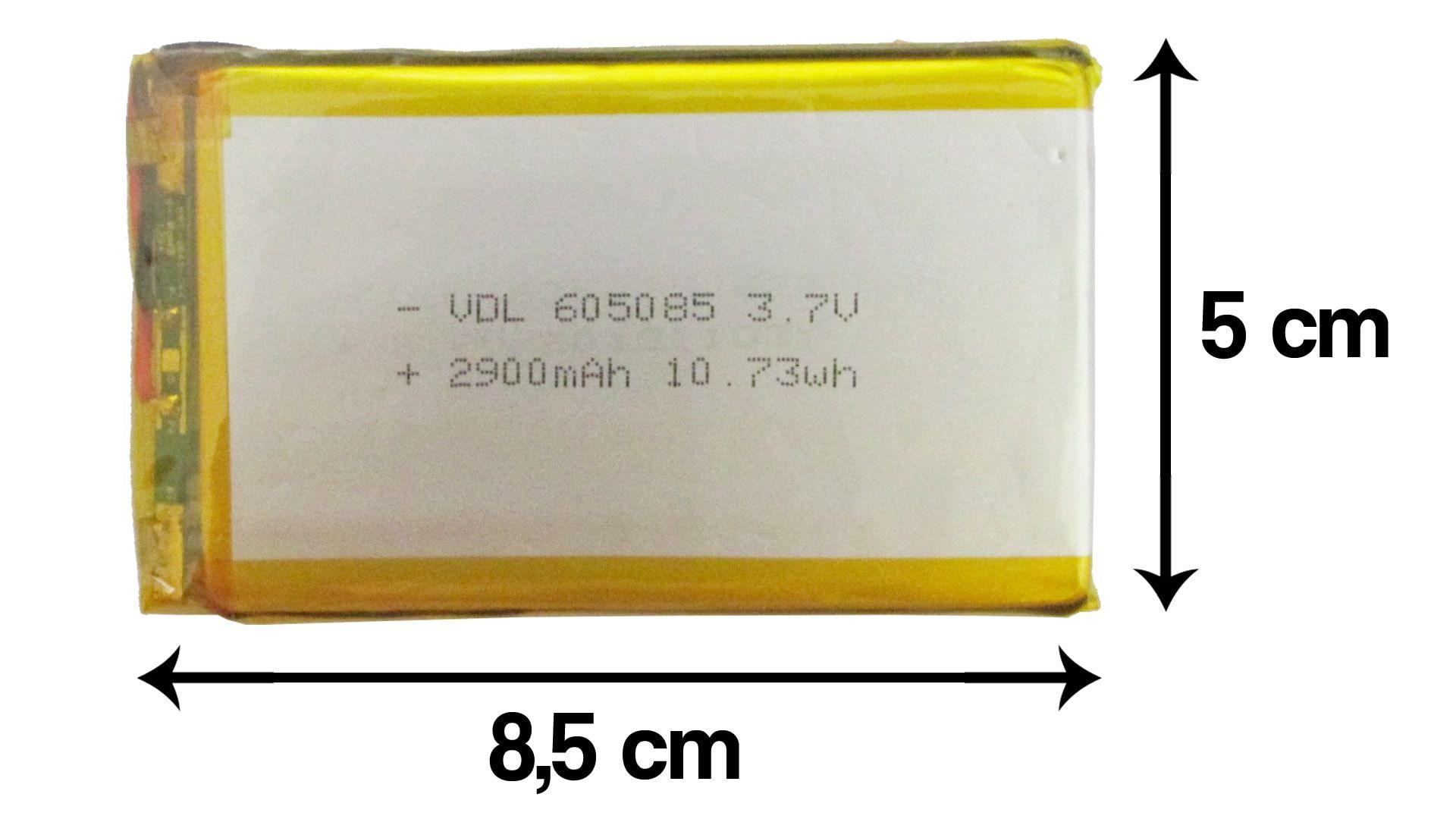 Bateria Universal Nova para Tablet 2900mah 3.7v Lithium