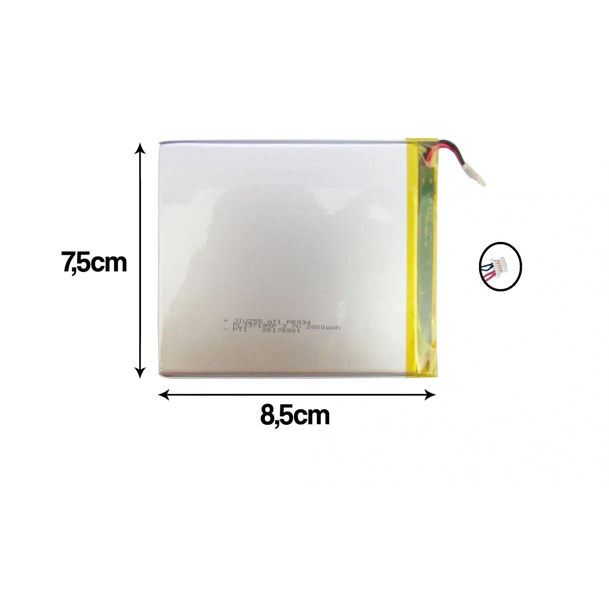 Bateria Universal Nova para Tablet Multilaser 2800mah 3.7v Lithium PR934