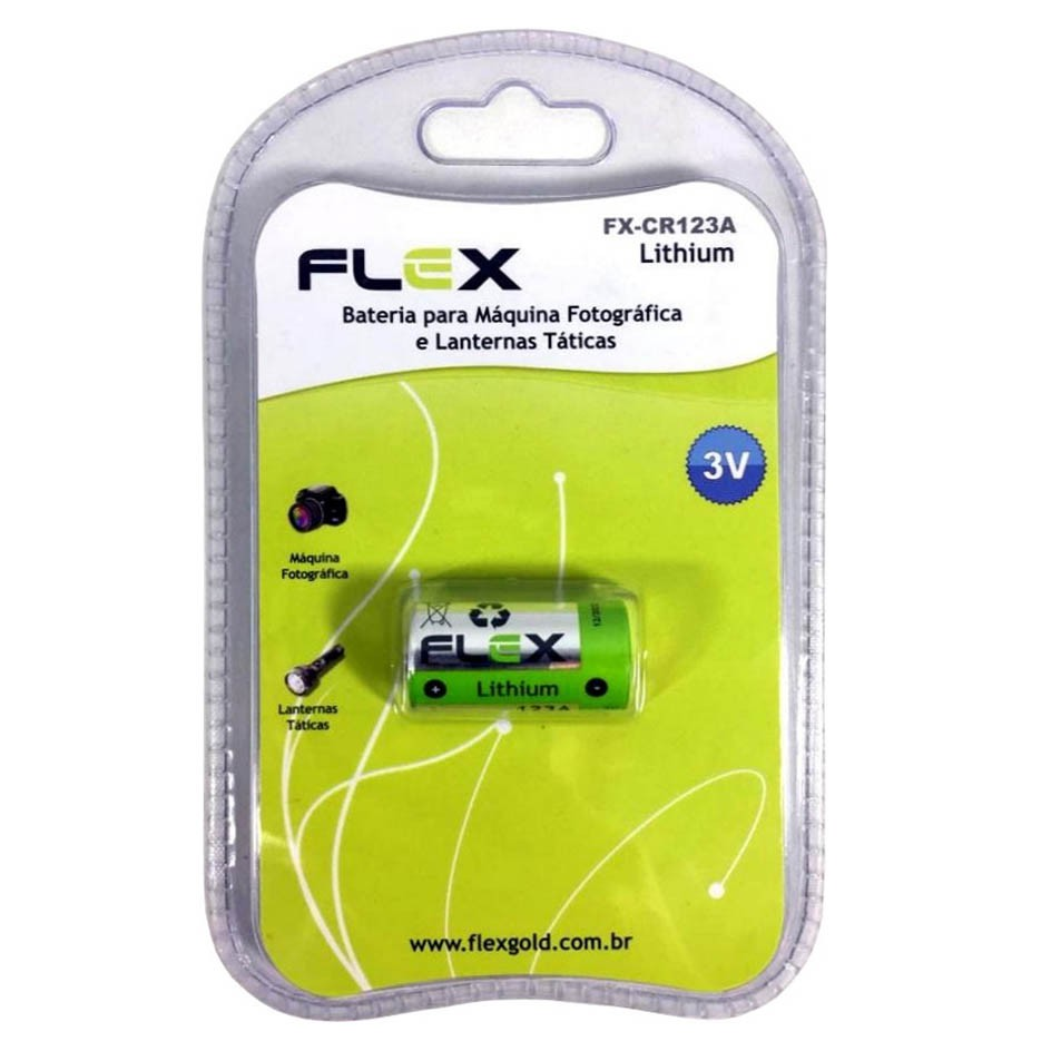 Blister 1 Unid. Bateria FX-CR123A Lithium 3v Flex - CR123A