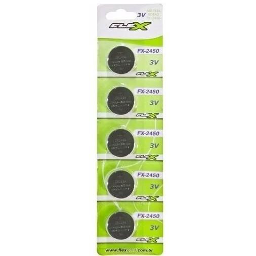 Blister 5 Unid. Bateria FX-CR2450 Lithium 3v Tipo Botão Flex - CD-2450